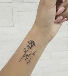 Flower and Roman Numerals Tattoo on We Heart It Tattoo roman numerals tattoo Inner Wrist Tattoos, Cool Wrist Tattoos, Faith Tattoo On Wrist, Ankle Tattoos For Women, Tattoos For Women Small, Body Tattoos, Hand Tattoos, Small Tattoos, Arabic Tattoos