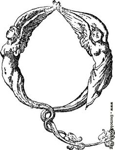 [Picture: Initial Leter Q From Mitelli's Alphabet]