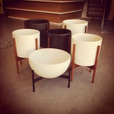 These Case Study ceramic pots with basis are awesome.  Modernica pots at Just Modern #casestudy #justmodern