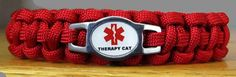 Therapy Cat Paracord Collar w/Safety Buckle  $13.00