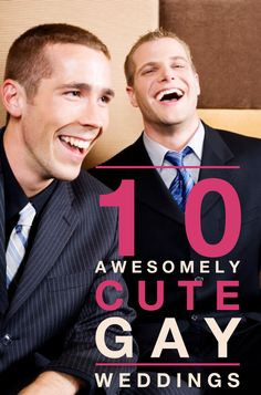 10 Awesomely Cute Gay Weddings You Just Have to See --> http://b-gay.com/gay-news/10-awesomely-cute-gay-weddings
