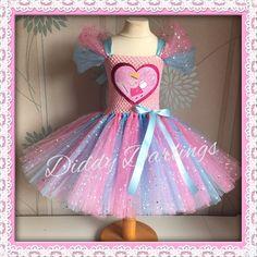 Sparkly Peppa Pig Tutu Dress Tutu Sparkly Pink Blue Princess Dress Birthday New #DiddyDarlings #CasualFormalParty