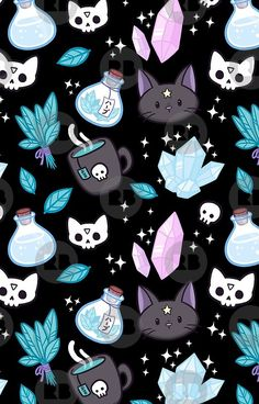 Herb Witch // Black de halloween dibujos anime 'Herb Witch // Black' Case/Skin for Samsung Galaxy by nikury Witchy Wallpaper, Goth Wallpaper, Halloween Wallpaper Iphone, Fall Wallpaper, Halloween Backgrounds, Kawaii Wallpaper, Cute Wallpaper Backgrounds, Aesthetic Iphone Wallpaper, Cute Wallpapers