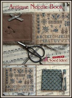 Antique Needle Book