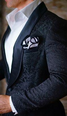 S by Sebastian Dinner Jacket Black Paisley #menssuit