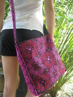 Thai Indian Hmong Boho Hobo Ethnic Embroidered Shoulder Messenger Sling Bag | eBay