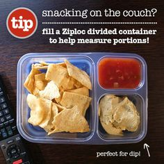 divided containers are a great way to keep late night snack under control #healthy
