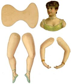 §§§ : Ballerina : L&B articulated paper doll : late 1800s : printable for construction : http://ekduncan.blogspot.com/search/label/L%20and%20B