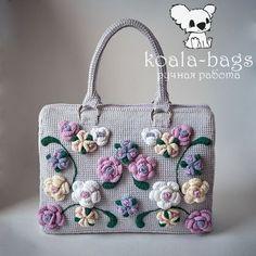 Crochet Bag, ROSE GARDEN