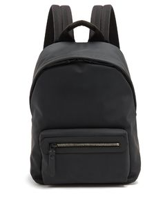 LANVIN Front-Pocket Rubberised-Leather Backpack. #lanvin #bags #leather #lining #canvas #backpacks #