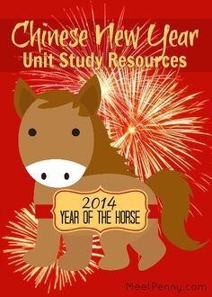 List of Chinese New Year activities, books, games, printables and more for a unit study. @Tabitha Philen (Meet Penny)