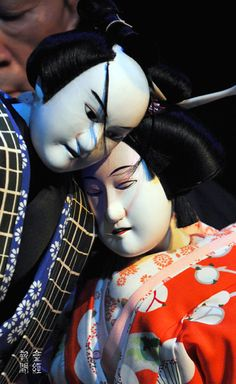 Japanese puppet theater -Bunraku-