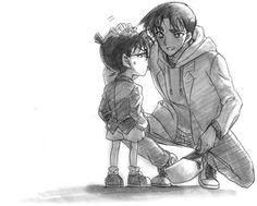 Heiji and Conan Conan Comics, Detektif Conan, Arthur Conan, Magic Kaito, Sherlock Holmes, Heiji Hattori, Detective Conan Wallpapers, Gosho Aoyama, Kaito Kid