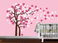 Kids  Wall Decal Cherry blossom decal tree decal by walldecals001, $82.00