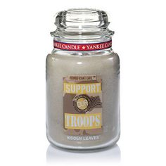 Support Our Troops™ (Hidden Leaves™) Yankee Candle Scents, Yankee Candles, Scented Candles, Candle Jars, Scent Warmers, Best Smelling Candles, My Yankees, Airforce Wife, Support Our Troops