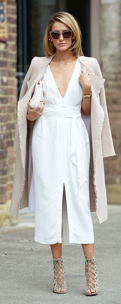 Blush And White Chic Style