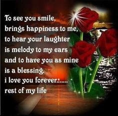 I Love You Forever, Love Poems, A Blessing, Your Smile, Of My Life, Laughter, Bring It On, My Love, Happy