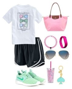 Untitled #5 by mriles on Polyvore featuring polyvore, fashion, style, NIKE, Longchamp, Ray-Ban, Fitbit, Vineyard Vines, Lilly Pulitzer, Champion and clothing