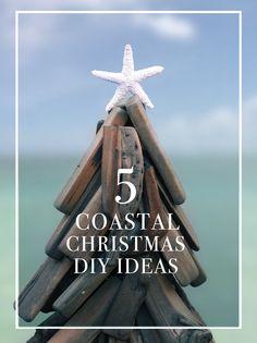 Coastal Themed Christmas DIY ideas #christmas #dIy #coastal