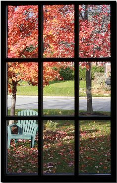 Autumn Through the Window by Lisa-S, via Flickr