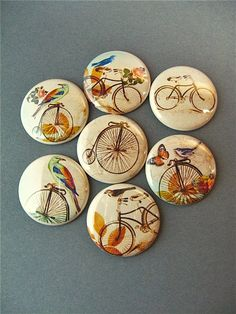Bicycle Bike Magnet Set / tour de france Seven by PipingHotPapers, $8.75 Please follow us @ http://www.pinterest.com/wocycling