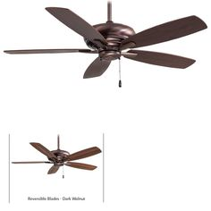 """View the MinkaAire Kola 5 Blade 52"""" Indoor Ceiling Fan - Blades Included at Build.com."""