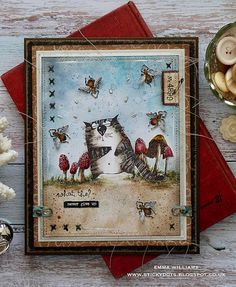 Hi all and welcome to another week on the Simon Says Stamp Monday Challenge Thank you for joining us for the … Crazy Bird, Crazy Cats, Crazy Animals, Tim Holtz Stamps, Art Journal Tutorial, Anna Griffin Cards, Ranger Ink, Cat Cards, Distressed Painting