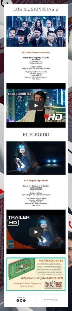 Los Ilusionistas 2 y El Elegido ¡Gran estreno!¡Nos vemos en el cine!