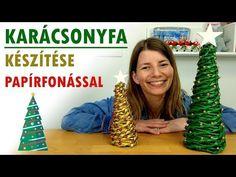 Karácsonyfa készítése papírfonással   Karácsonyi dekoráció   Manó kuckó - YouTube Advent, Art For Kids, Diy And Crafts, Mickey Mouse, December, Christmas, Youtube, Decor, Creative