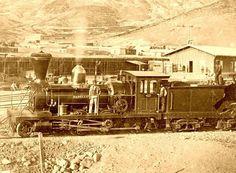 Chile, Estación de Trenes en Centro Minero de Chañarcillo, año 1862