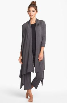 DKNY 'Seven Easy Pieces' Flutter Wrap Pajamas | Nordstrom