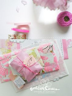 packaging touched up with washi tape #washi #washitape #pink