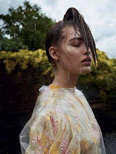 Photography:Camilla Åkrans Styled by: Nicola Knels Hair: Franco Gobbi Makeup: Wendy Rowe Model: Grace Elizabeth