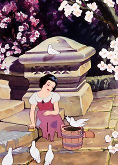 disneycharming:  fifty caps per disney film:snow white→ [2/50]
