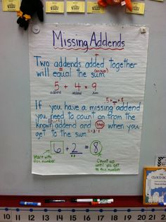 missing added anchor chart. Number Anchor Charts, Anchor Charts First Grade, Kindergarten Anchor Charts, Kindergarten Math, Preschool, Second Grade Math, First Grade Math, Grade 1, Teaching First Grade