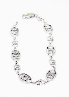 Sigma Kappa Sterling Silver Bracelet set with Lab-created Diamonds. Got this at convention and love it!