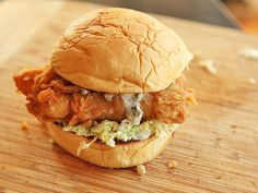 Fried Fish Sandwiches With Creamy Slaw and Tartar Sauce. #recipe