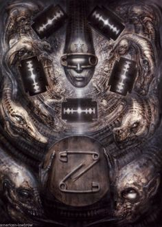 HR Giger Art Poster Print Illuminatus II Alien Baphomet Biomechanical Robot | eBay