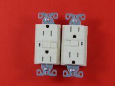Cooper Ivory GFCI GFI Decorator Receptacle Outlet 20A 125V 5-15R Bulk VGF15 #CooperWiringDevices