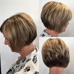 Short Layered Bob For Older Women