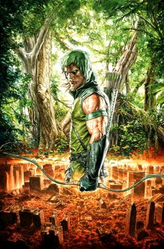 [Free eBook] Green Arrow Vol. Into the Woods (Green Arrow (DC Comics Paperback)) Author J. Krul and Diogenes Neves, Comic Book Characters, Comic Book Heroes, Marvel Characters, Comic Character, Comic Books Art, Comic Art, Book Art, Cosplay Characters, Arrow Dc Comics