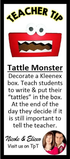 Great idea for promoting classroom kindness by teaching kids the difference between unnecessary tattling & important reporting.