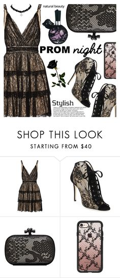 """The Perfect Prom Night"" by shoaleh-nia ❤ liked on Polyvore featuring Alice + Olivia, Jimmy Choo, Bottega Veneta and Casetify"
