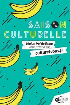 Visuel saison culturelle Melun Val de Seine - Pom Com