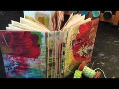 Dede Willingham - Using Old Art to Make a Journal - YouTube time 1:52:14; Aug 12, 2015 NTS: great idea for using up painted papers and file folders to make a journal