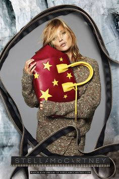 Fall 2014 Fashion Ads - Designer Ad Campaigns - Elle.  Kate Moss for Stella McCartney, shot by Mert Alas and Marcus Piggott.
