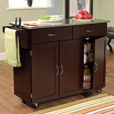 Berkley Kitchen Island With Wood Top I