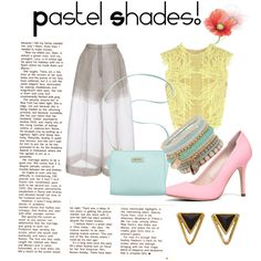 pastello shades by martyness on Polyvore featuring moda, Erdem, Delpozo, ALDO and Marc Fisher