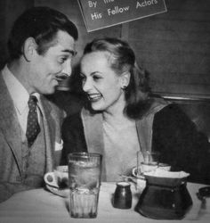 """Clark Gable & Carole Lomard """"You can trust that little screwball with your life or your hopes or your weaknesses, and she wouldn't even know how to think about letting you down."""" - Clark Gable"""