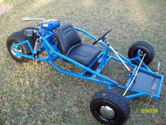 Here is the finished product of a Reverse trike of mine !!!! Go Kart